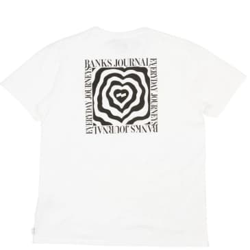 Banks Journal Wrap Heart Faded T-Shirt - Off White