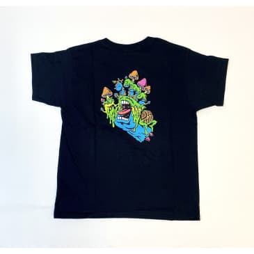 SANTA CRUZ Youth Toxic Hand Tee Black