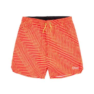 dime warp shorts (red)