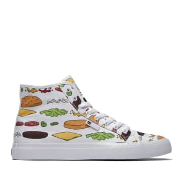 DC x Bobs Burgers Manual Hi High-Top Skate Shoes - White