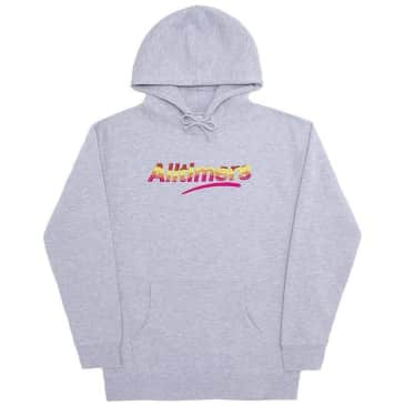 Alltimers Embroidered Wave Estate Hoodie - Heather Grey