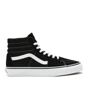 Vans Sk8-Hi Shoes - Black / Black / White