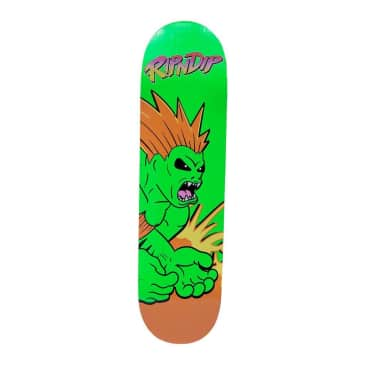 Ripndip Button Mash Skateboard Deck Green - 8""