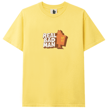 Real Bad Man Front Hitter T-Shirt - Butter Yellow