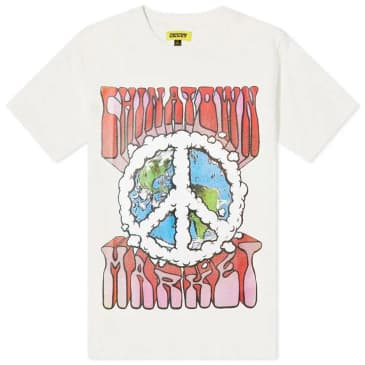 Chinatown Market Peace On Earth Clouds T-Shirt - Cream