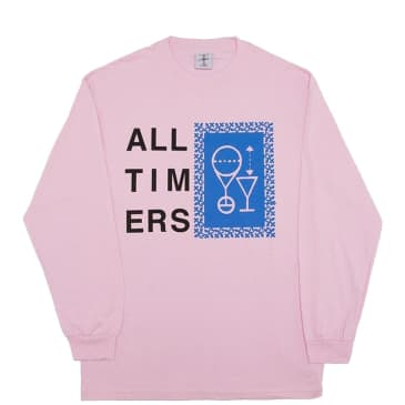 Alltimers Etching Sketchy Long Sleeve T-Shirt - Pink