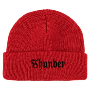 THUNDER Evil Embroidered Cuff Beanie Red/Black