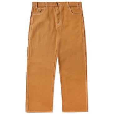 Butter Goods Overdye Denim Work Pants - Brown