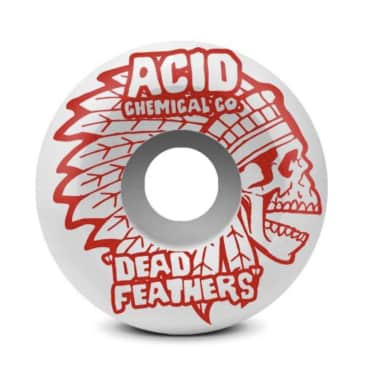 """ACID CHEMICAL COMPANY WHITE SIDE CUTS """"DEAD FEATHERS"""" WHEELS 52MM 101A"""
