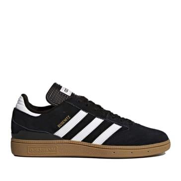 adidas Skateboarding Busenitz Pro Shoes - Core Black / Cloud White / Gold Metallic