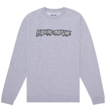 Fucking Awesome Actual Visual Guidance Sweatshirt - Heather Grey