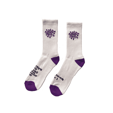 always do what you should do - white / purple @sun sock