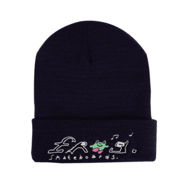 FROG HAPPY BEANIE - NAVY