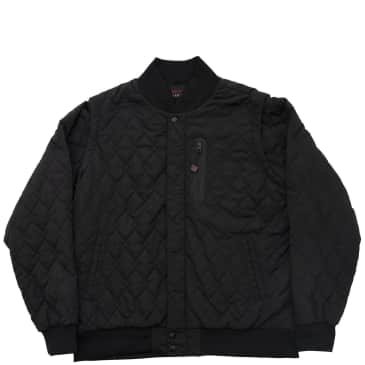 Bronze 56k Hardware Bomber Jacket - Black
