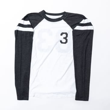 303 Boards - Striped Big 3 Long Sleeve Jersey Shirt (Grey/White)