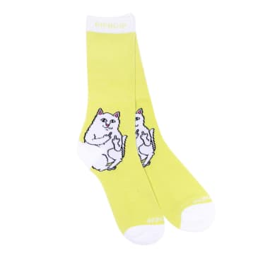 Rip N Dip Lord Nermal Socks - Neon Yellow