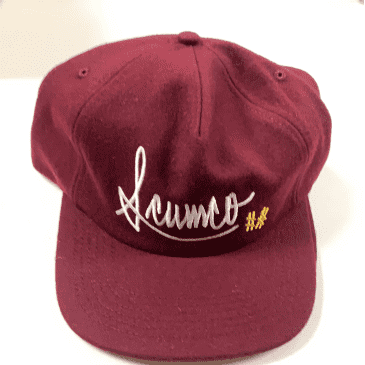 Scumco And Sons Wool Burgundy Baseball Cap