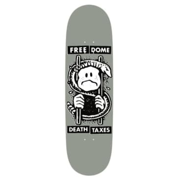 Free Dome Death and Taxes Skateboard Deck - 8.8