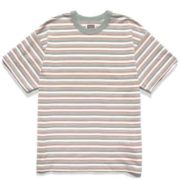 Red Ruggison 90's Striped T-Shirt - White / Mint