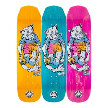 """Welcome Skateboards - 8.125"""" Nora Vasconcellos Teddy on Wicked Princess Deck (Various Stains)"""