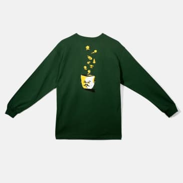 Baker Skateboards Picnic Head Forrest Green L/S Tee