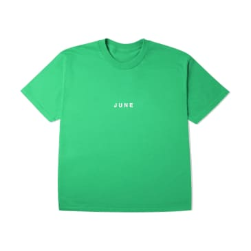 June - PUFF! Youth T-Shirt - Kelly Green, White