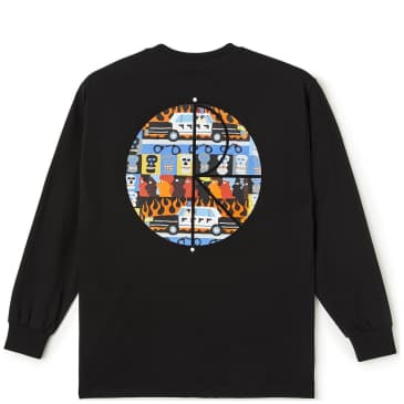 Polar Skate Co ACAB Fill Logo Long Sleeve T-Shirt - Black