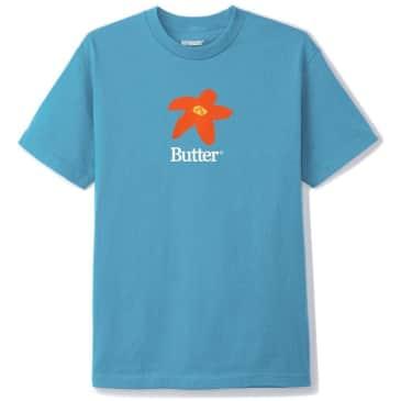 Butter Goods Flowers T-Shirt - Carolina Blue