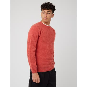 Bhode Supersoft Lambswool Jumper (Made in Scotland) - Salmon
