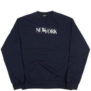 Hotel Blue Stacks Champion Crewneck - Navy