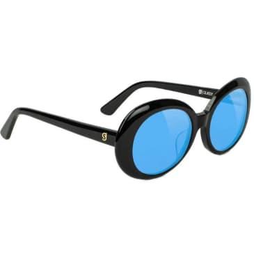 Glassy Premium Burt Sunglasses - Black / Blue