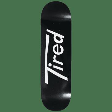 """Tired Long T Logo Regular Skateboard Deck - 8.5"""""""