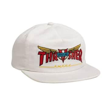 Thrasher Venture Collab Snapback Hat - White