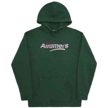 Alltimers Embroidered Wave Estate Hoodie - Dark Green