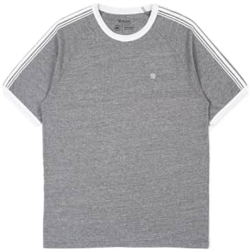 Brixton Este II Knit T-Shirt - Heather Grey / White