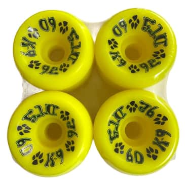Dogtown Wheels K-9 80s 60mm92A Fluorscent Yellow