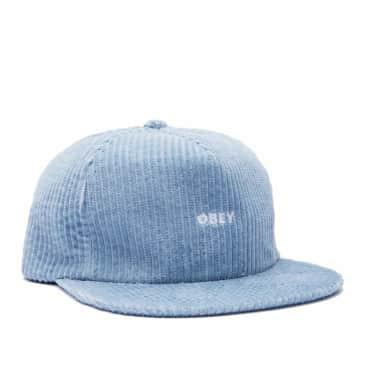 OBEY Bold Cord Strapback Cap - Ice Blue