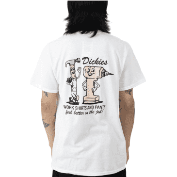 Dickies '67 Collection On The Job Short Sleeve T-Shirt White