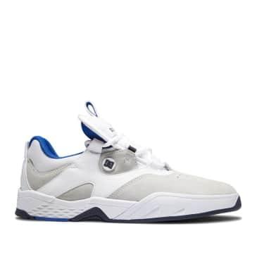 DC Kalis Skate Shoes - White / Blue / Grey