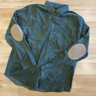 Theories Utility Cord Longsleeve Shirt (Forest Green)