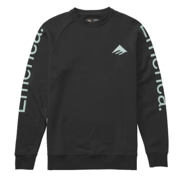 EMERICA TRI PURE CREWNECK - BLACK