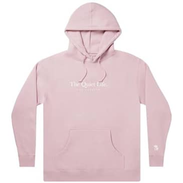 The Quiet Life Serif Embroidery Hoodie - Dusty Pink