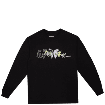 Frog Nightmare Long Sleeve T-Shirt - Black