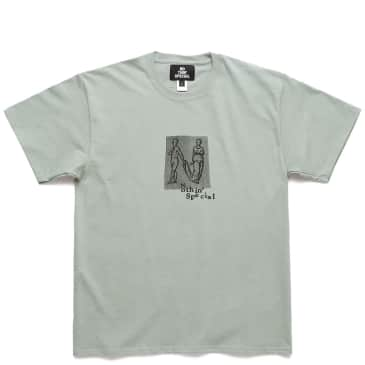 Nothin'Special Human Letter T-Shirt - Stonewashed Green