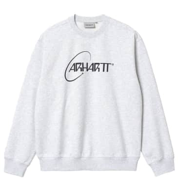 Carhartt WIP Orbit Sweat - Ash Heather / Dark Navy