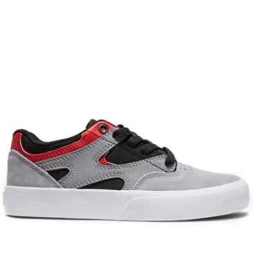 DC Kalis Vulc Youth Skate Shoes - Black / Red / Grey