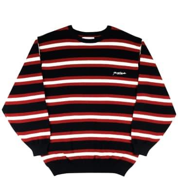 Yardsale Vermont Knit Longsleeve - Black / Scarlet