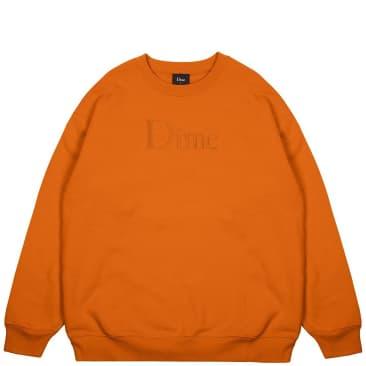 Dime Classic Logo Crewneck - Orange