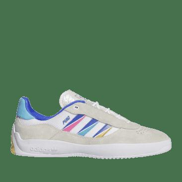 adidas Skateboarding Puig Shoes - Ftwr White / Sonic Ink / Signal Cyan