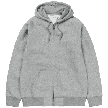 Carhartt WIP Hooded Chase Jacket - Grey Heather / Gold